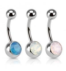Navlepiercing med Opal Sten