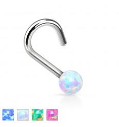 Nesepiercing med Opal