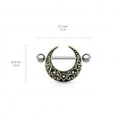 Brystsmykke med Antik Halvmåne Form