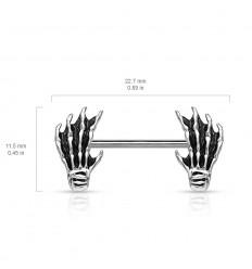 Brystsmykke med Skelet Hånd