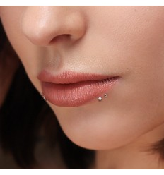 Push In Labret i Titanium
