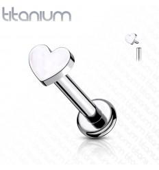 Titanium Labret med Hjerte