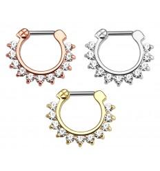 Piercing Ring med Sten Kant